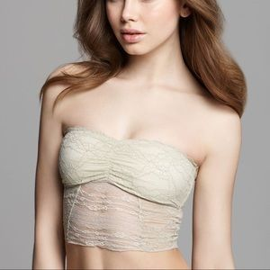 Intimately free people taupe lace bandeau bra